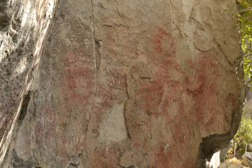Foto delle mani a La Cueva de las Manos a Villa Cerro Castillo