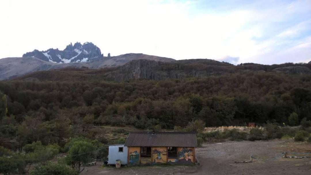 Campeggio con vista Cerro Castillo in Cile