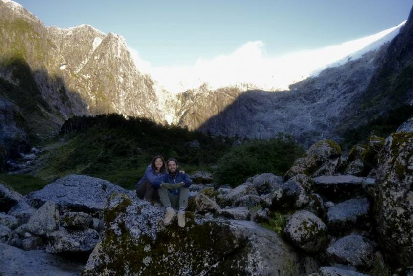 Fine del percorso del Bosco Incantato al Parco Queulat in Cile