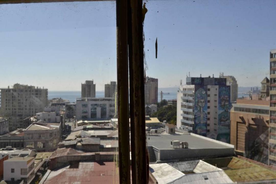 Vista dalla teleferica di Valparaiso in Cile