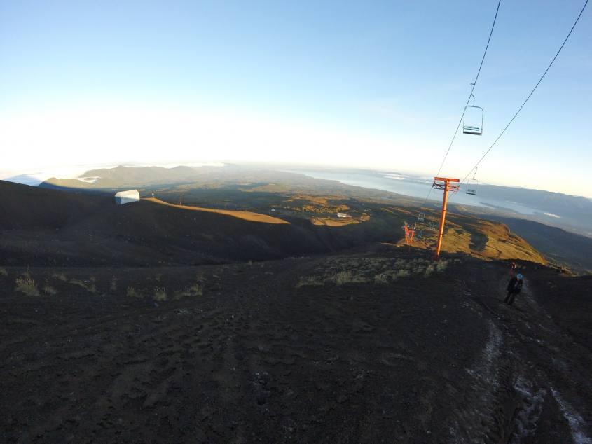 Ascesa al vulcano Villarrica di Pucon in Cile