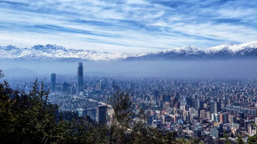 Cerro San Cristobal di Santiago del Cile nelle nostre aspettative