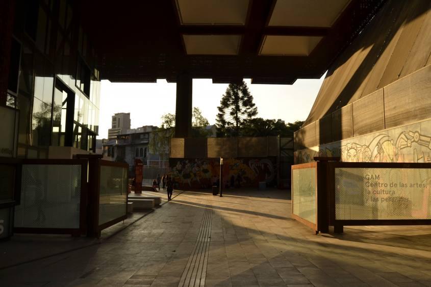 Esterno del GAM (Centro Culturale Gabriela Mistral) di Santiago del Cile