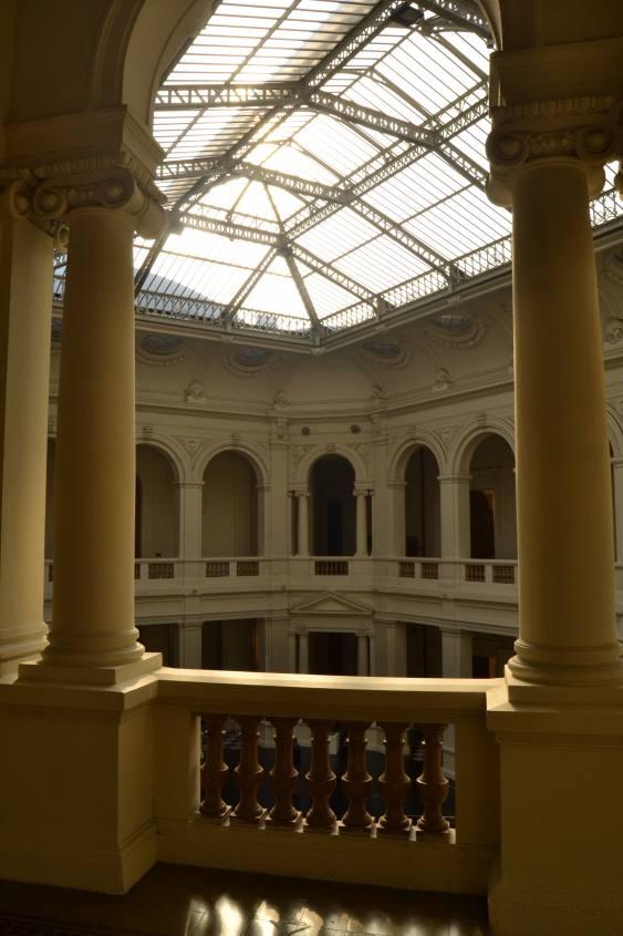 Interno del MAC (Museo di Arte Contemporanea) a Santiago del Cile