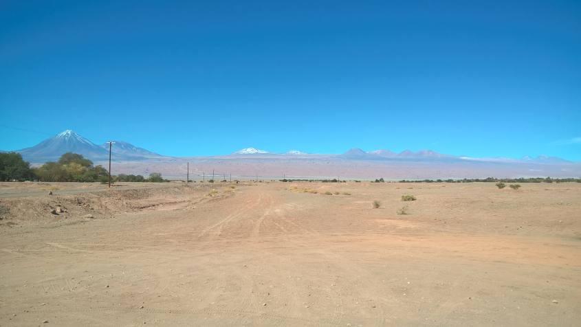 Normali paesaggi che si hanno da San Pedro di Atacama in Cile