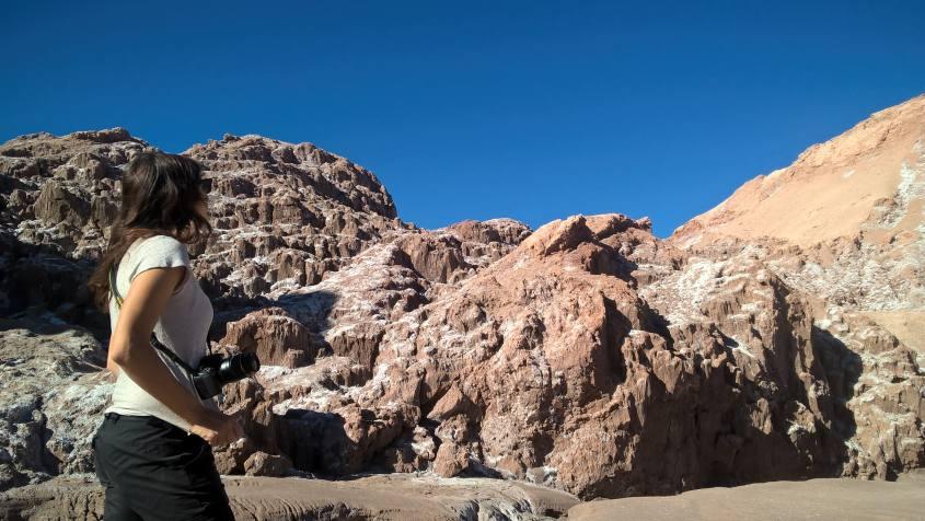 Paesaggi della Valle della Luna nel deserto di Atacama in Cile