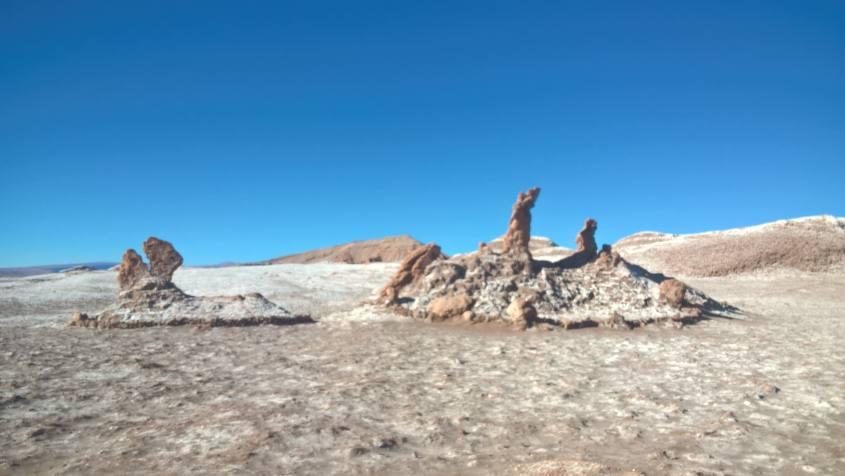 Le Tre Marie nella Valle della Luna nel deserto di Atacama in Cile