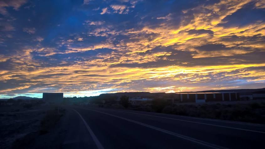 Colori del tramonto a San Pedro di Atacama nel deserto in Cile