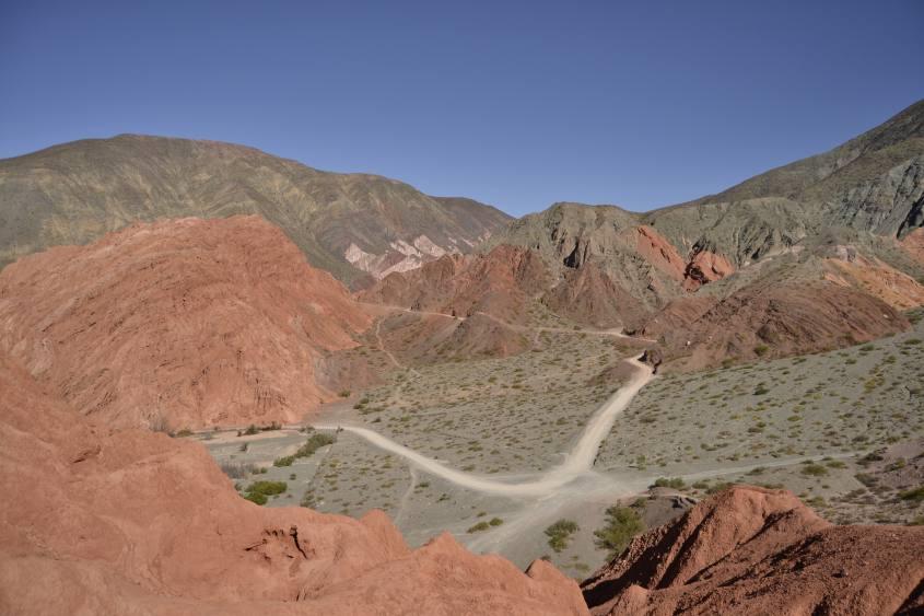 Percorso della montagna dai sette colori di Purmamarca in Argentina