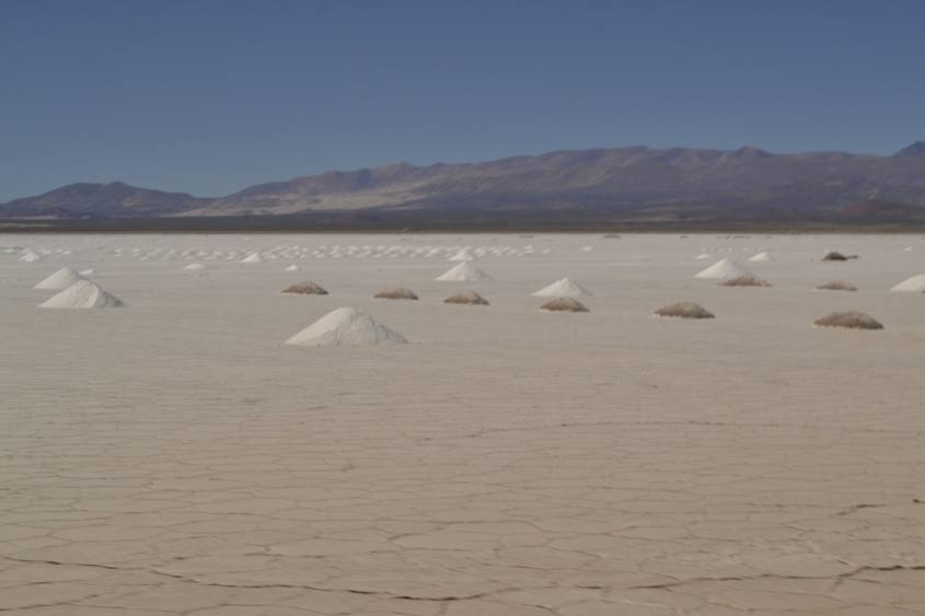 Il deserto di sale, Salinas Grandes, sulla strada da San Pedro di Atacama a Salta in Argentina