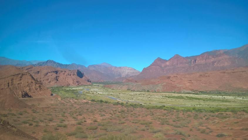 Paesaggi del tour sulla strada da Salta a Cafayate in Argentina