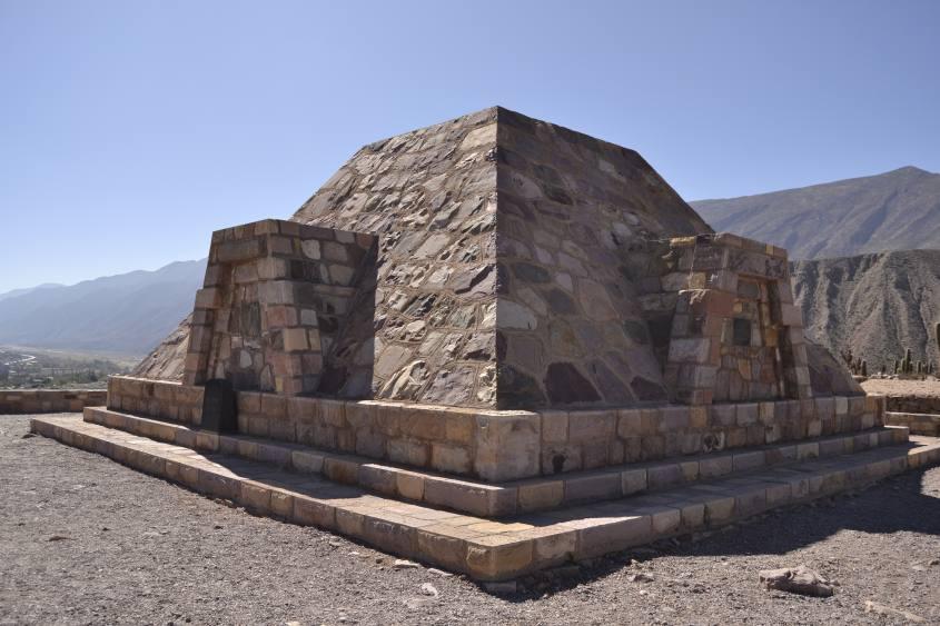 Tempio all'interno della fortezza Pucará de Tilcara in Argentina