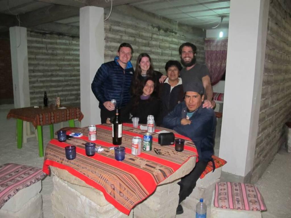 Il gruppo nell'Hotel di sale Uyuni