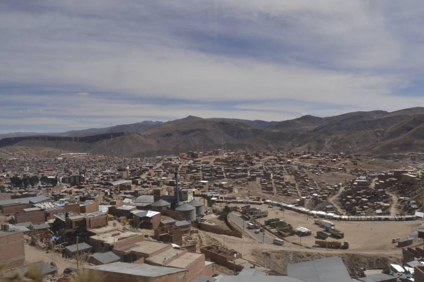 Punto panoramico sulla città di Potosì in Bolivia