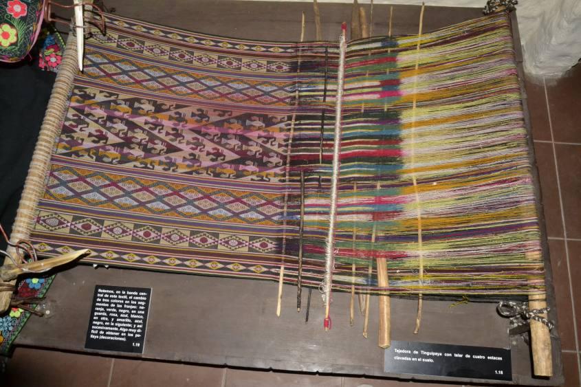 Macchina per tessere nel Museo dell'Arte Indigena (ASUR) di Sucre in Bolivia