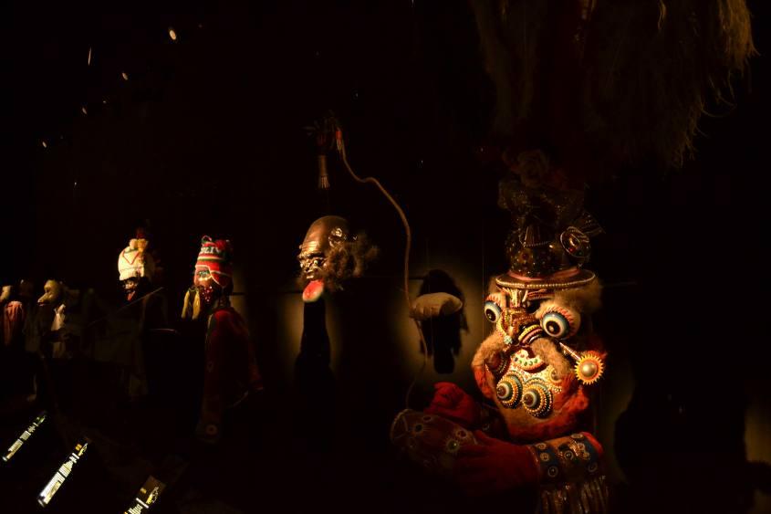 Sala dei carnevali boliviani nel Museo MUSEF di Sucre in Bolivia