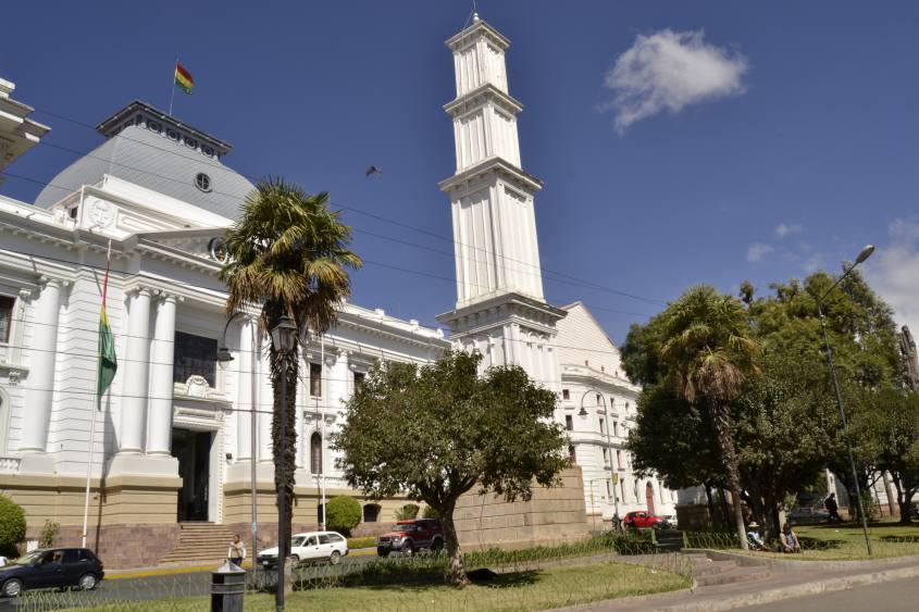 Monumenti nel centro di Sucre in Bolivia