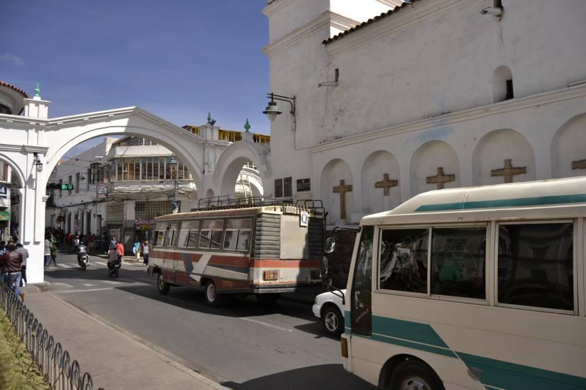 Ingresso della città di Sucre in Bolivia