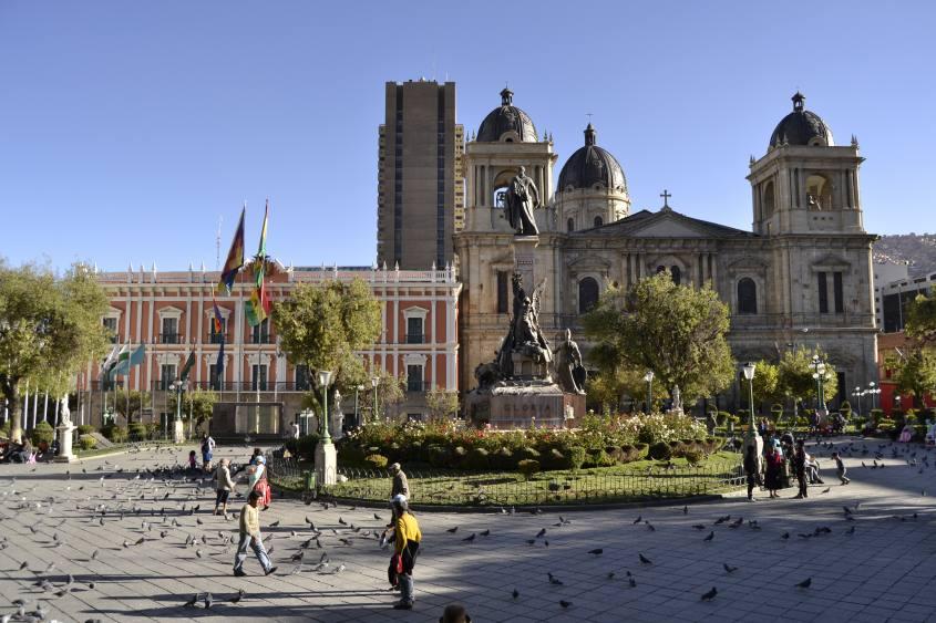 Piazza Murillo a La Paz in Bolivia