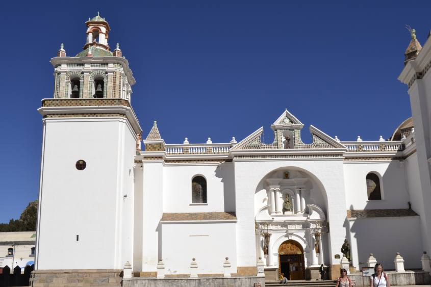 Cattedrale nel centro di Copacabana in Bolivia