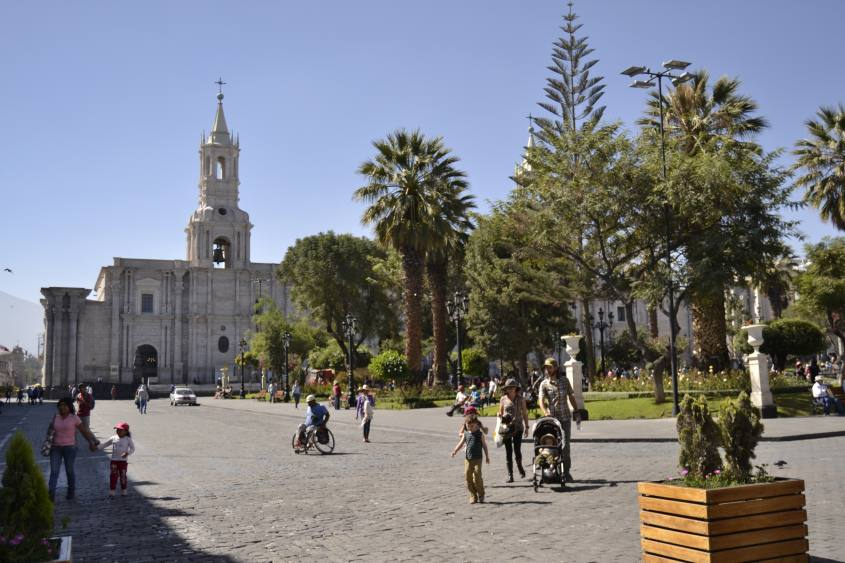 Plaza de Armas ad Arequipa in Perù