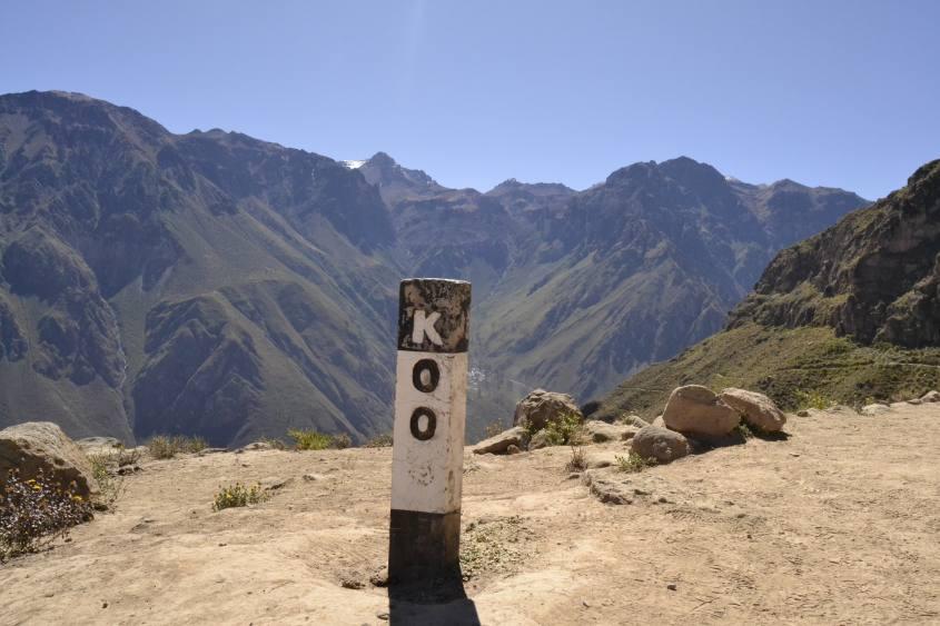 Inizio del trekking e percorso nel Canyon del Colca in Perù