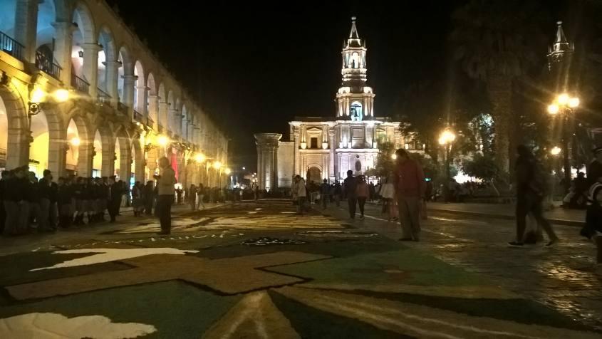Festa dell'Infiorata in Plaza de Armas ad Arequipa