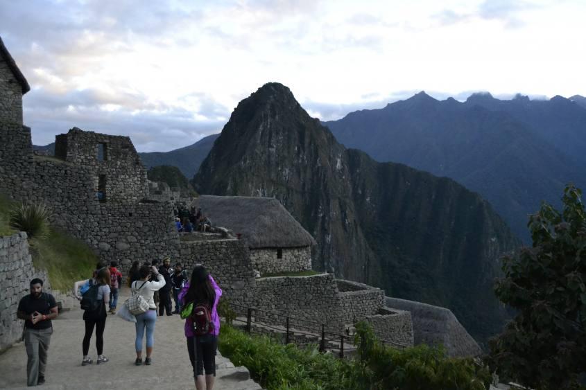Foto panoramica di Machu Picchu