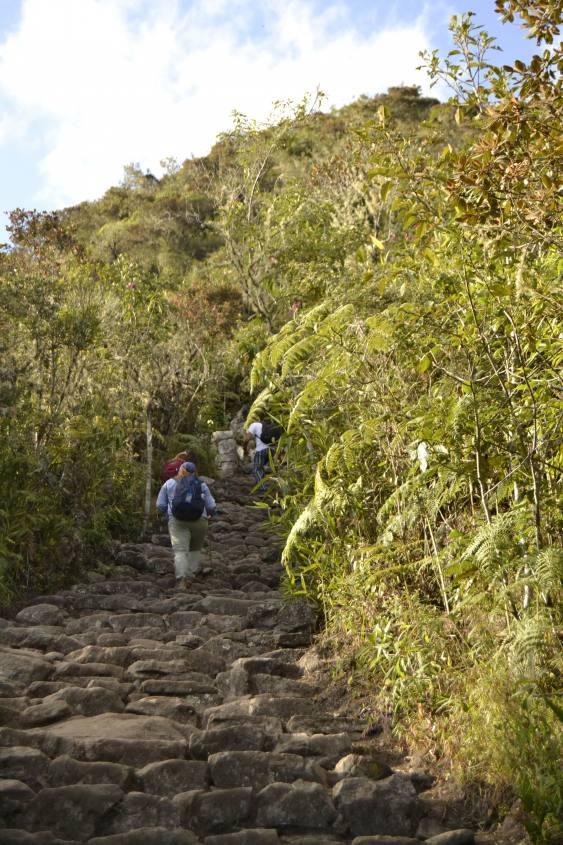 Salita alla montagna Machu Picchu in Perù