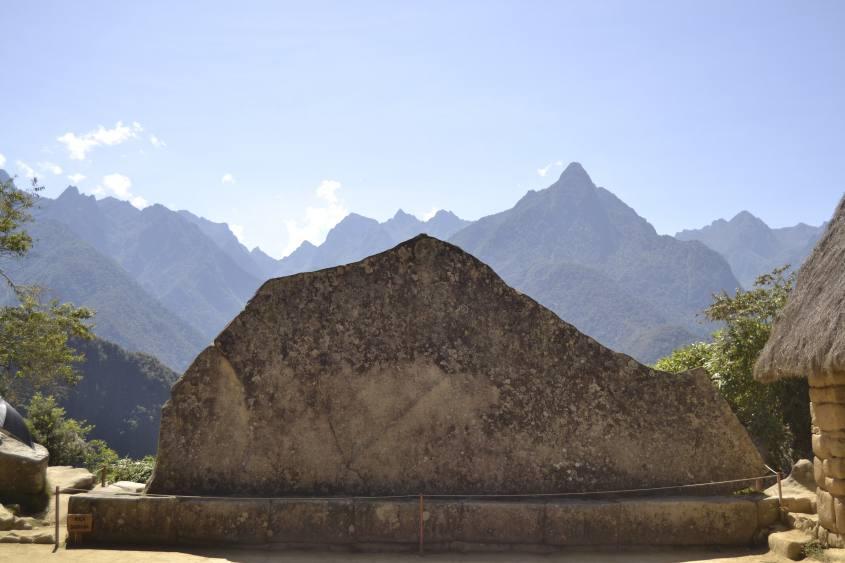 La Roccia Sacra (Roca Sagrada) all'interno di Machu Picchu