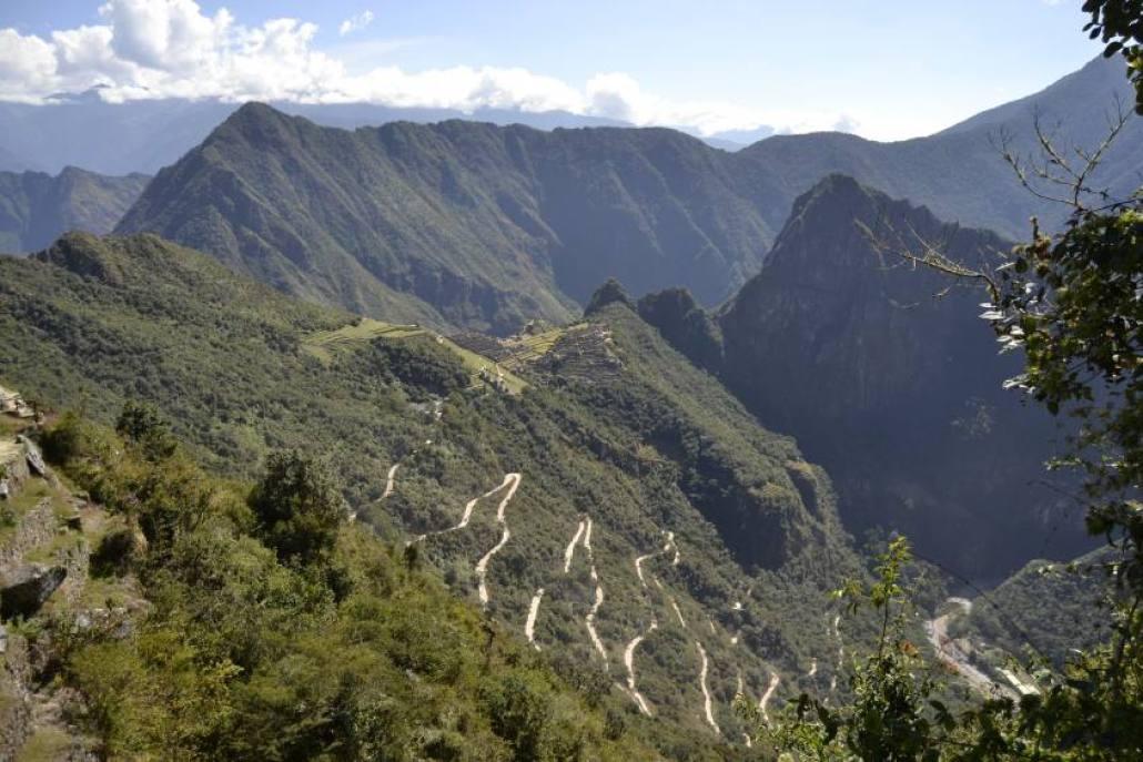 Vista Puerta del Sol Machu Picchu
