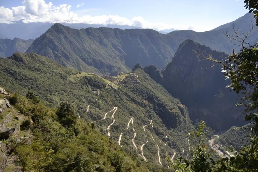 Vista dalla Puerta del Sol di Machu Picchu