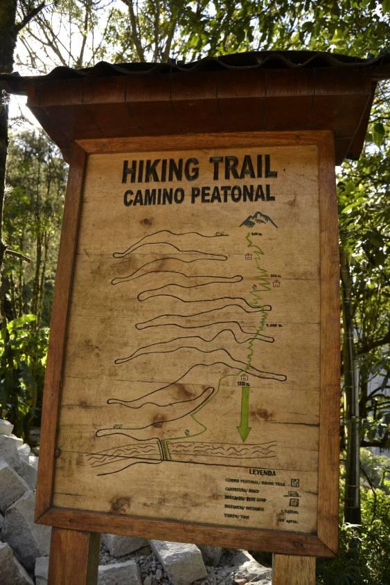 Cammino a piedi per Machu Picchu