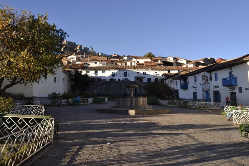 Piazza principale del quartiere San Blas a Cusco in Perù