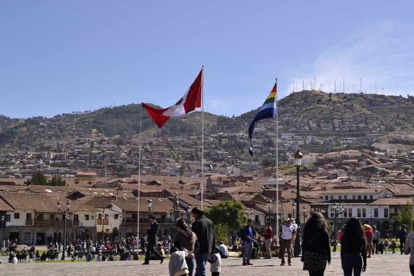 Piazza principale di Cusco, la Plaza de Armas