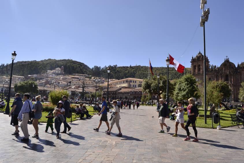 Plaza de Armas nel centro storico di Cusco in Perù