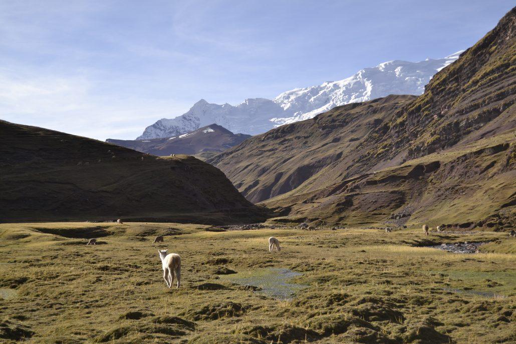 Vista dal trekking montagna Vinicunca
