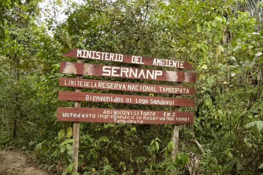 Entrata Riserva Naturale Tambopata (Foresta Amazzonica) e Lago Sandoval