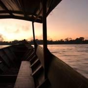 Alba sul fiume Tambopata