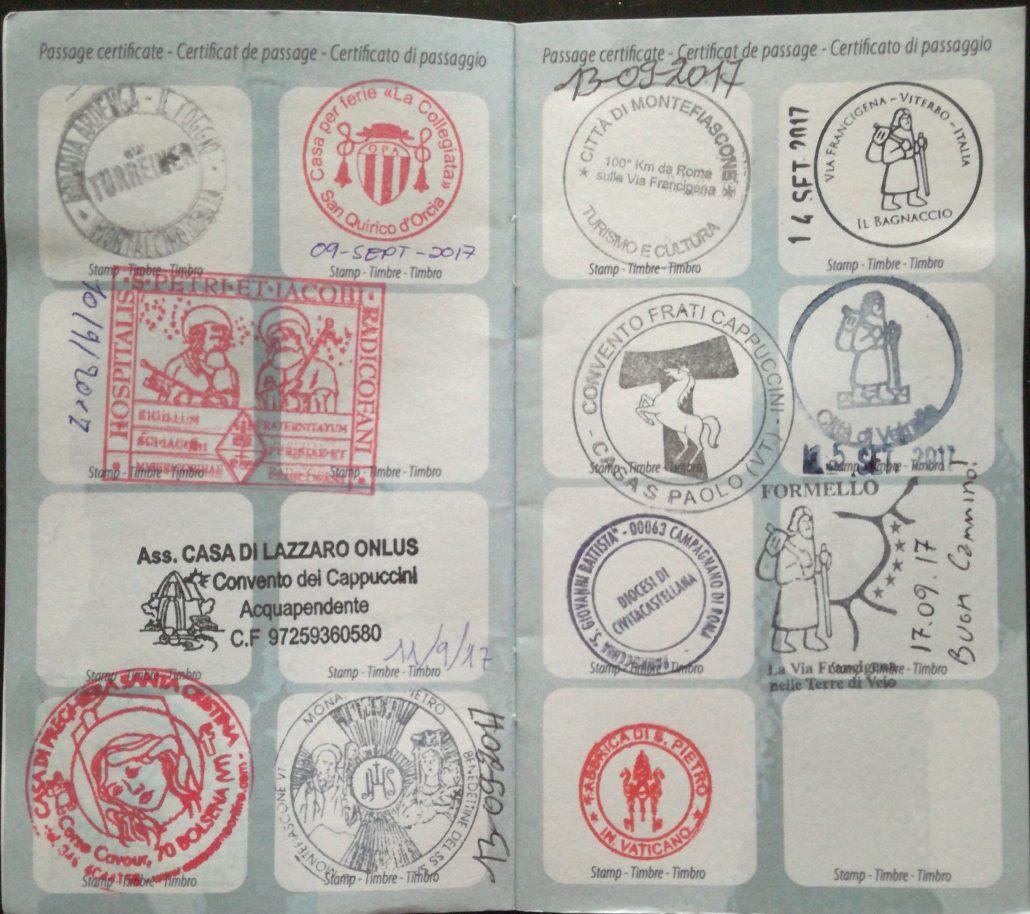 Credenziale Via Francigena