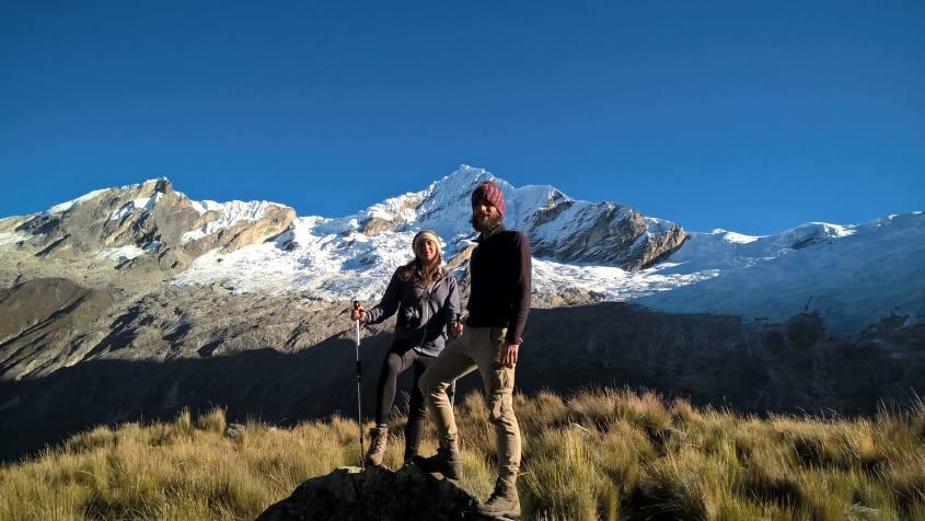 Paesaggi durante il trekking Santa Cruz alla Cordillera Blanca in Perù