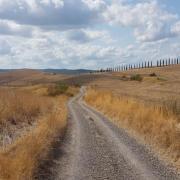 Val d'Orcia lungo la Via Francigena