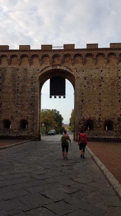 Porta Romana Uscita Siena Via Francigena