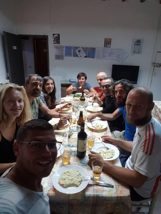 Cena Parrocchia San Quirico d'Orcia Via Francigena