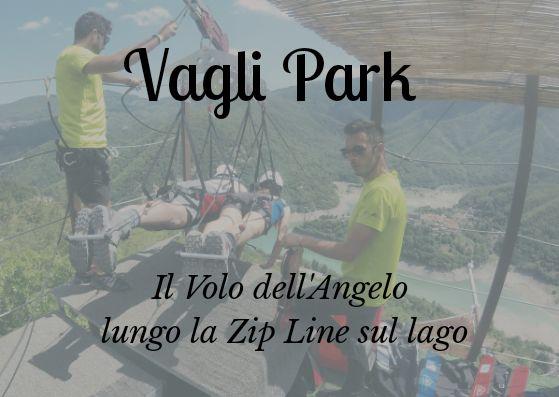 VAGLI PARK, il volo dell'Angelo lungo la Zip Line sul lago