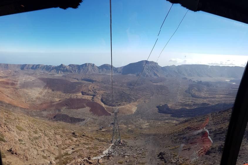 Salita in teleferica per il vulcano Teide a Tenerife