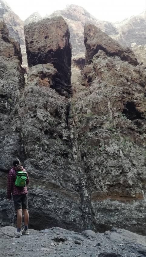 Rocce vulcanica del Trekking Masca a Tenerife