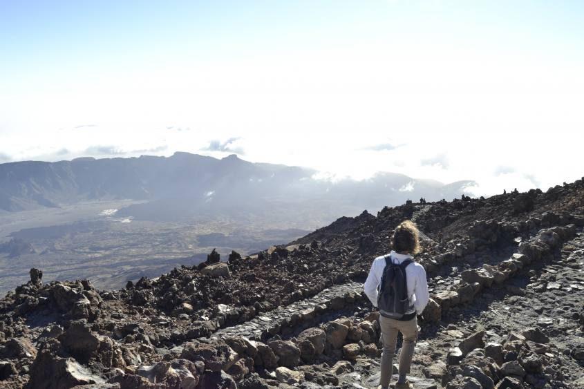 Cima del Vulcano Teide a Tenerife Canarie