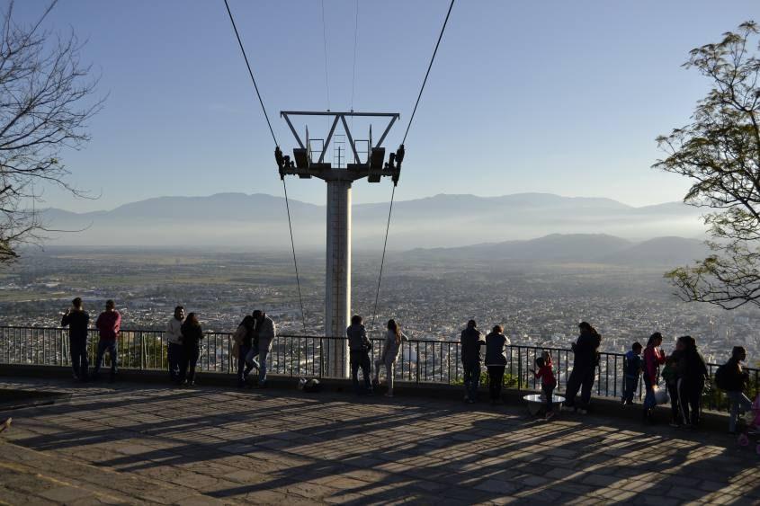 Punto panoramico Cerro San Bernando a Salta nel Nord dell'Argentina
