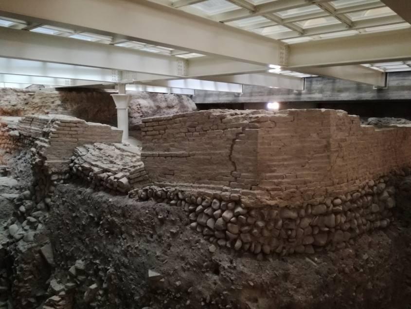 Scavi archelogici Bononia al di sotto della Biblioteca Salaborsa di Bologna